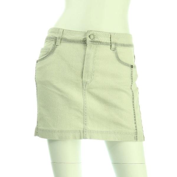 コントワーデコトニエ スカート レディース新品同様  ホワイト系 デニムスカート