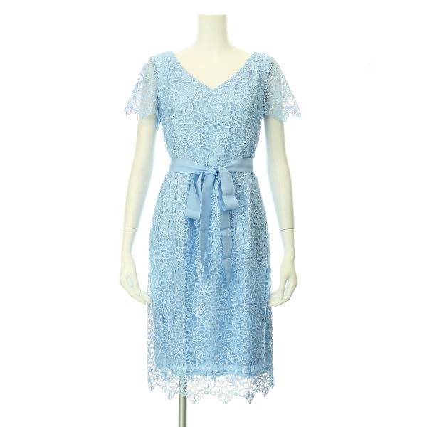 アントニオメラーニ ドレス サイズ2(S/7号) レディース新品同様  ライトブルー系