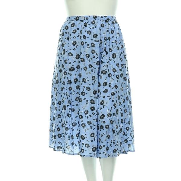 NEXT(ネクスト) スカート レディース新品同様  ブルー系 フレアスカート モダール100%