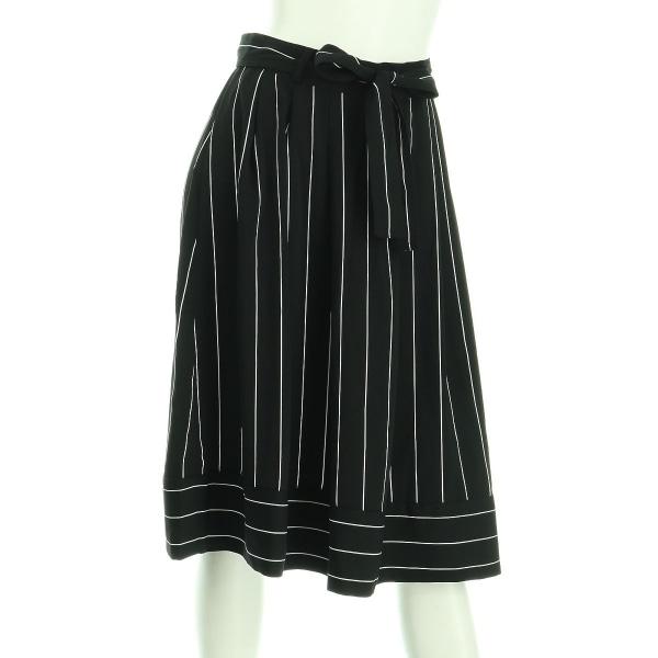 バナナリパブリック スカート レディース新品同様  ブラック系 プリーツスカート
