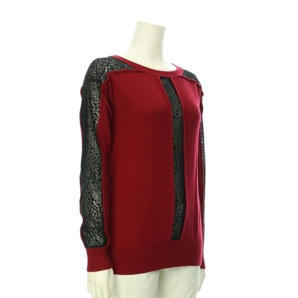 ナネットレポー セーター レディース新品同様  レッド系 ニット・セーター