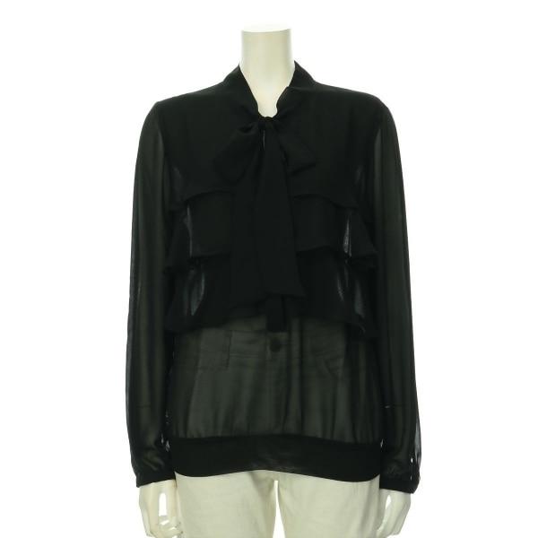MORGAN(モルガン) シャツブラウス レディース新品同様  ブラック系 シャツ・ブラウス