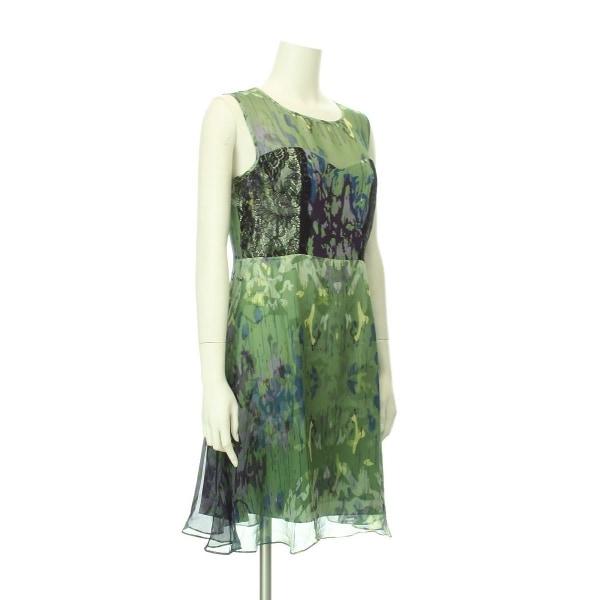 アンソロポロジー ドレス レディース新品同様  グリーン系 カクテルドレス