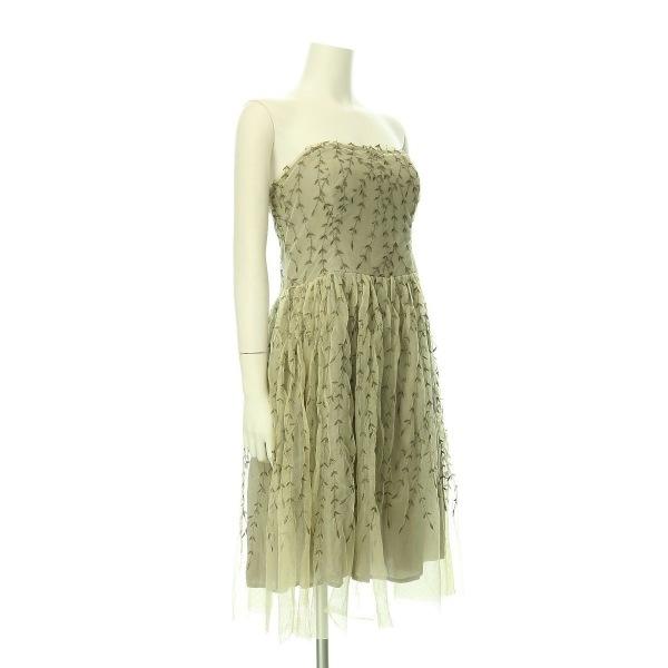 アンソロポロジー ドレス レディース新品同様  ベージュ系 カクテルドレス