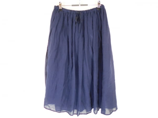 Hampstead(ハムステッド) ロングスカート サイズ40 M レディース美品  ネイビー