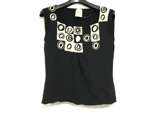 Sybilla(シビラ) ノースリーブセーター サイズM レディース美品  黒×ベージュ