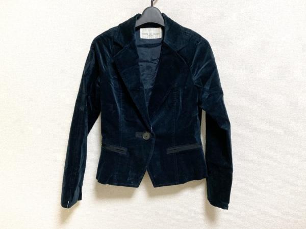 ジャンニロジュディチェ ジャケット サイズ40 M レディース美品  黒 ベロア