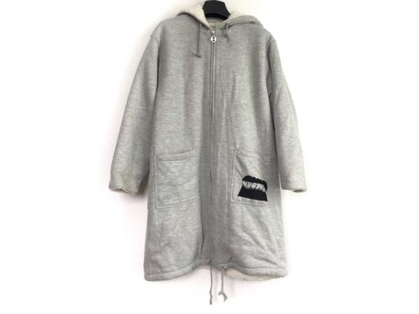 PICONE(ピッコーネ) コート サイズ38 S レディース グレー 冬物/刺繍/STUDIO