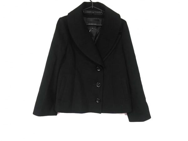 INDIVI(インディビ) コート サイズ38 M レディース美品  黒 ショート丈/冬物