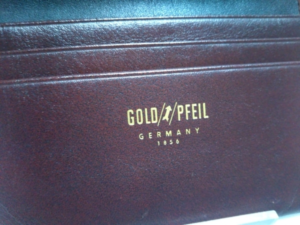 GOLD PFEIL(ゴールドファイル) 名刺入れ ボルドー レザー