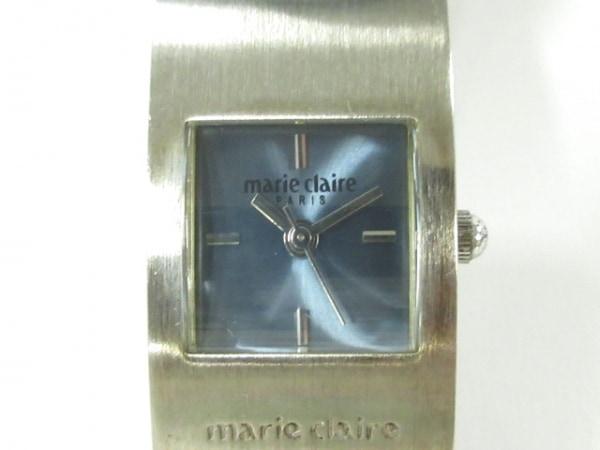 マリクレール 腕時計美品  MAURITIUS レディース 革ベルト/型押し加工 ブルー