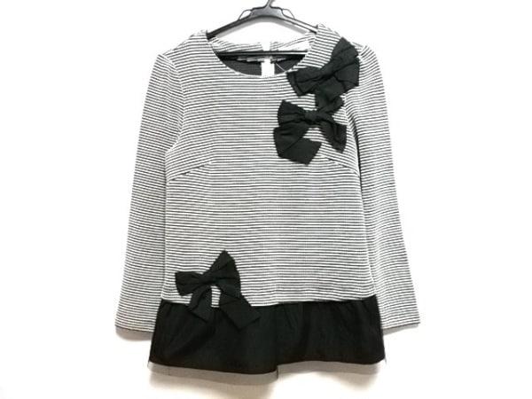 GALLERYVISCONTI(ギャラリービスコンティ) チュニック レディース美品  黒×白 リボン