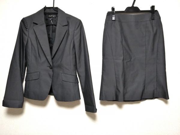 INDIVI(インディビ) スカートスーツ サイズ38 M レディース美品  ダークグレー