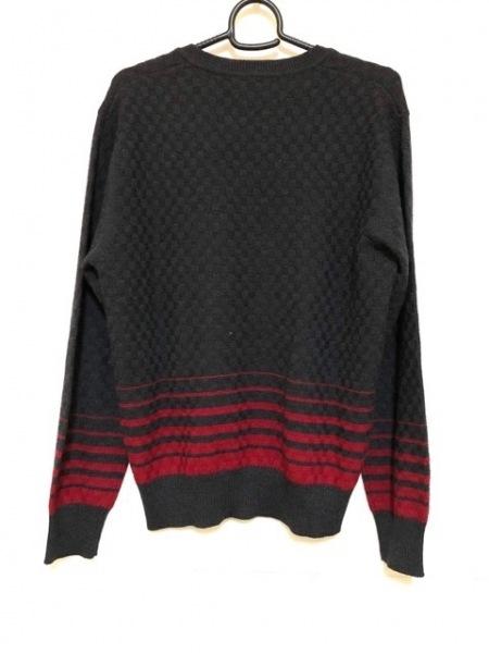 PaulSmith(ポールスミス) 長袖セーター サイズXL レディース ダークグレー×レッド