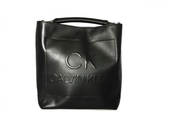 CalvinKlein(カルバンクライン) トートバッグ美品  黒 レザー