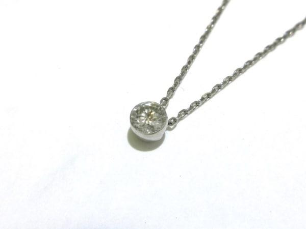 スタージュエリー ネックレス美品  Pt950×ダイヤモンド 1Pダイヤ/0.18カラット