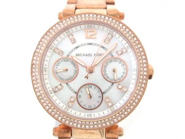 MICHAEL KORS(マイケルコース) 腕時計 MK-5616 レディース シェル文字盤 アイボリー