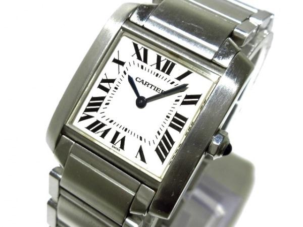 Cartier(カルティエ) 腕時計 タンクフランセーズMM W51003Q3 ボーイズ SS 白