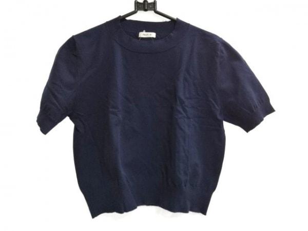 FRAY I.D(フレイアイディー) 半袖セーター サイズF レディース ネイビー