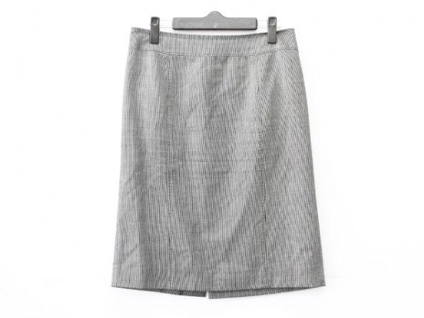 Burberry LONDON(バーバリーロンドン) スカート サイズ40 L レディース 黒×白 ラメ