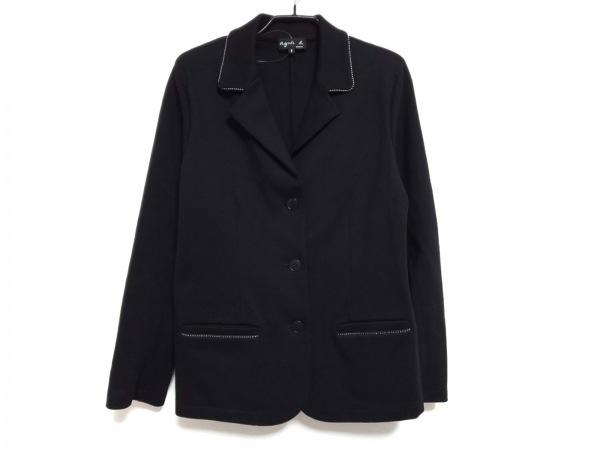 agnes b(アニエスベー) ジャケット サイズ3 L レディース 黒 スウェット生地