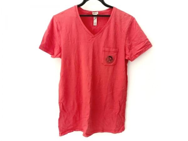 ディーゼル 半袖Tシャツ サイズM メンズ美品  レッド UNDERWEAR 1