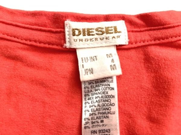 ディーゼル 半袖Tシャツ サイズM メンズ美品  レッド UNDERWEAR 3