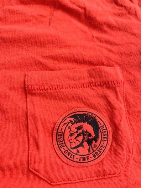 ディーゼル 半袖Tシャツ サイズM メンズ美品  レッド UNDERWEAR 5