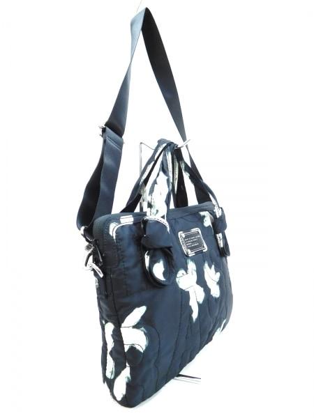 マークバイマークジェイコブス バッグ - 黒×白×グレー PCバッグ/ロゴキルティング