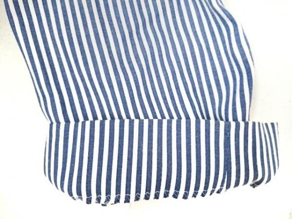 クレージュ スカートスーツ サイズ11AR M レディース ブルー×白 ストライプ