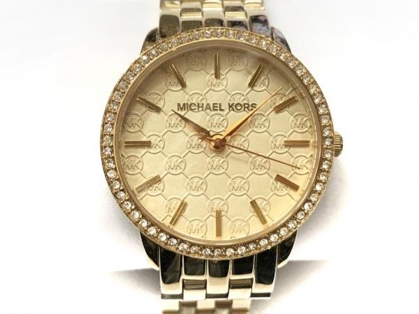 マイケルコース 腕時計美品  グリッツ MK-3120 レディース ラインストーンベゼル