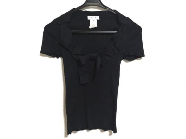 CELINE(セリーヌ) 半袖セーター サイズM レディース ダークネイビー リボン