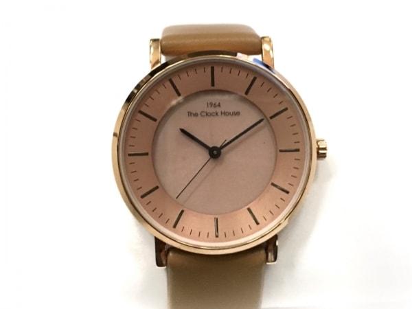 THE CLOCK HOUSE(ザクロックハウス) 腕時計 - LCA1002 レディース 革ベルト ピンク
