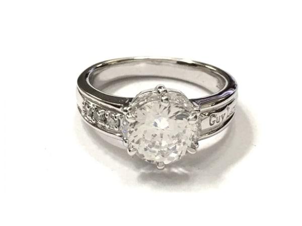 ギラロッシュ リング美品  シルバー×ダイヤモンド×ジルコニア クリア 0.06カラット