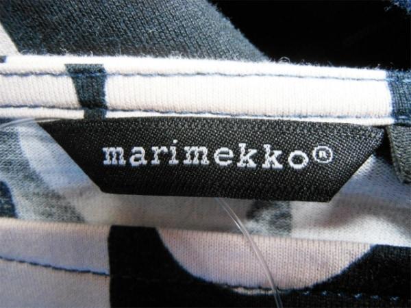marimekko(マリメッコ) ワンピース サイズM レディース 黒×ピンク×マルチ