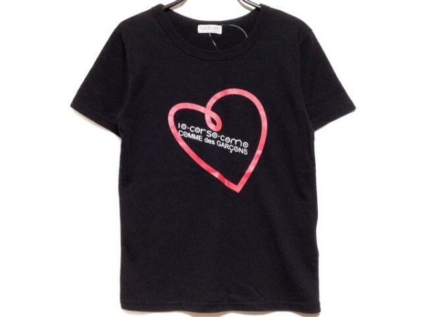 ディエチコルソコモ 半袖Tシャツ サイズL レディース 黒×レッド×マルチ