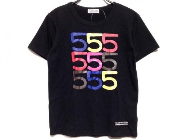 ディエチコルソコモ 半袖Tシャツ サイズL レディース 黒×イエロー×マルチ