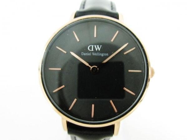Daniel Wellington(ダニエルウェリントン) 腕時計 - B28R01 レディース 革ベルト 黒