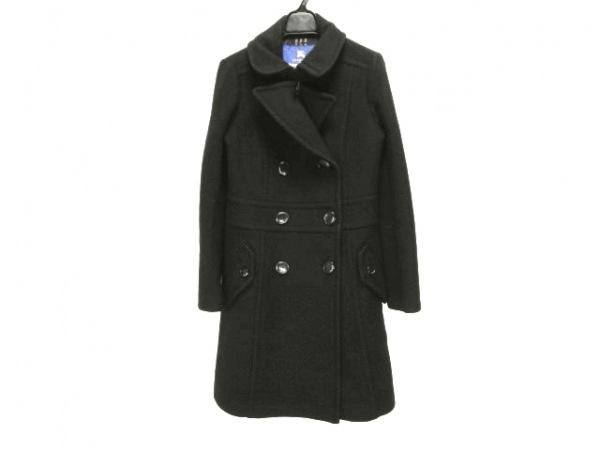 バーバリーブルーレーベル コート サイズ38 M レディース 黒 冬物