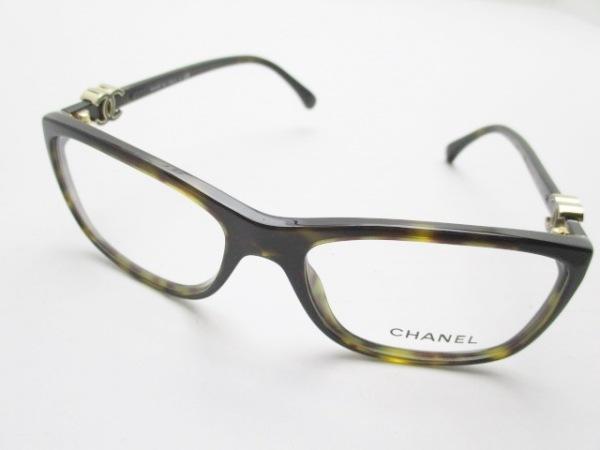 CHANEL(シャネル) メガネ 3234 クリア×ダークブラウン ココマーク プラスチック