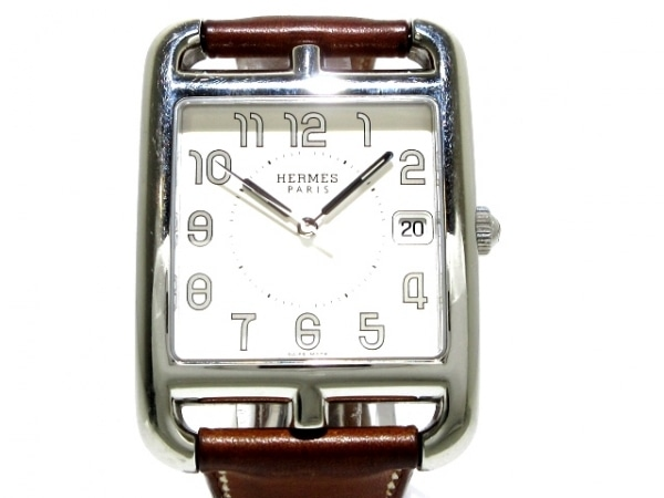 HERMES(エルメス) 腕時計 ケープコッド ダブルトゥール CC1.810 メンズ □J 白