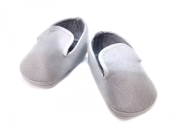HERMES(エルメス) 靴 ユニセックス ライトグレー ベビーシューズ ウール×アンゴラ