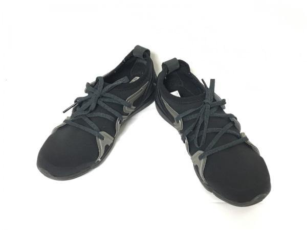 アディダスバイステラマッカートニー スニーカー 25.5 レディース美品  黒 化学繊維