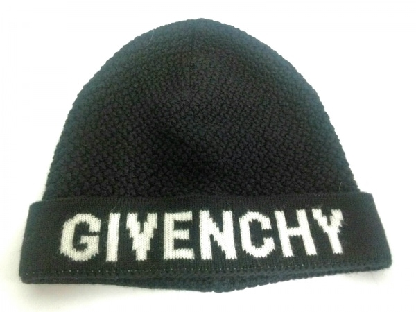 GIVENCHY(ジバンシー) ニット帽 黒×白 ウール