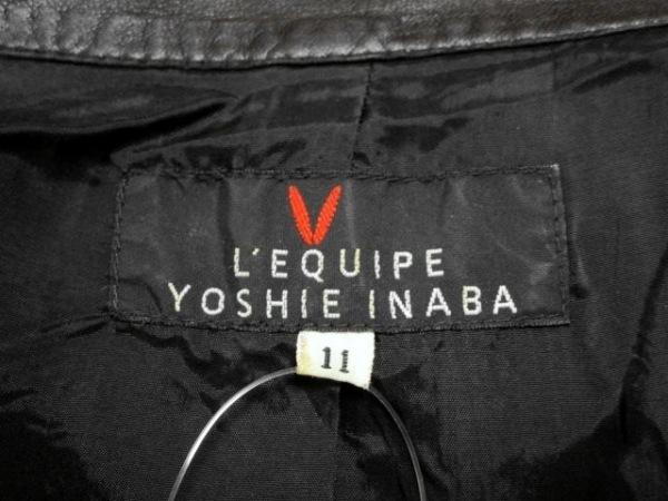 レキップ ヨシエイナバ ブルゾン サイズ11 M レディース 黒 レザー/春・秋物