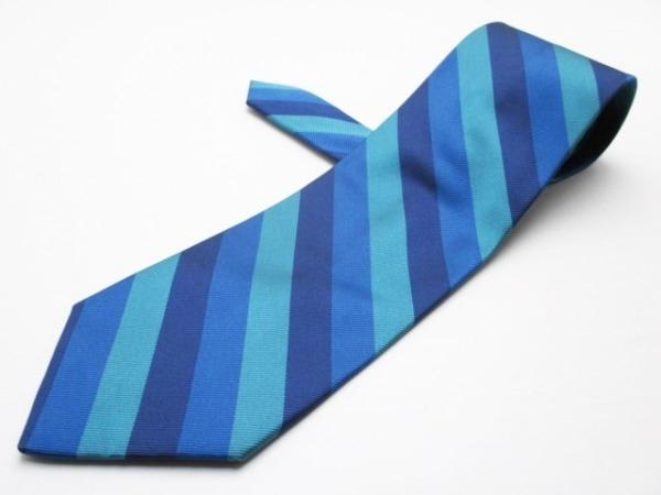 チャップスラルフローレン ネクタイ メンズ美品  ライトブルー×ブルー×マルチ