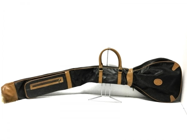 TRUSSARDI(トラサルディー) バッグ 黒×ライトブラウン PVC(塩化ビニール)×レザー