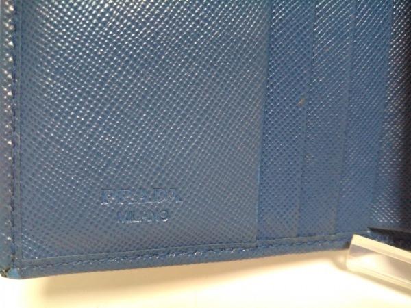 PRADA(プラダ) 2つ折り財布 - ライトブルー レザー