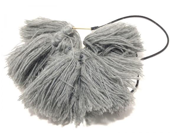 ENFOLD(エンフォルド) チョーカー ウール×化学繊維 グレー×黒 2