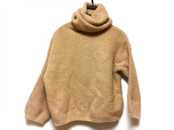 リビアナコンティ 長袖セーター サイズ40 M レディース ベージュ タートルネック